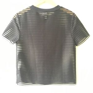 3910c6e771684 ... Shortsleeved T-shirt.   Other Stories Tops -   Other Stories Sheer  Striped Shortsleeved ...